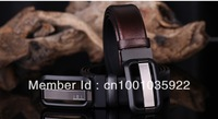 New Arrival! 2013 New fashion High Quality Cowhide leather belts with Black Silver Buckle 3 colors for choice Free shipping