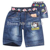 Wholesale 6pcs/lot baby boys girls summer cartoon Doraemon shorts jeans pants kids summer clothing