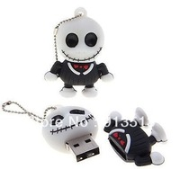New fashion skull jack USB flash drive disk 2GB 4GB 8GB accept mix order free shipping
