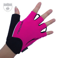 Fenovel bicycle ride silica gel semi-finger gloves moisture wicking sports gloves female anti-rattle breathable 001