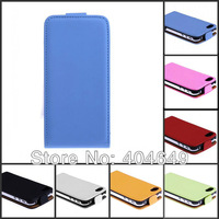 10pcs/lot High Quality Leather Flip Skin Case Cover For iphone 5 5G free shipping HK Post