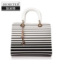 2014 bags fashion japanned leather women's handbag crocodile pattern handbag