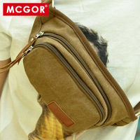 -Best Crown Seller - Mcgor casual male waist pack 100% cotton canvas man bag small bags multifunctional outdoor waist pack