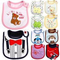 2013 Hot Sale Cotton Baby Bib Infant Saliva Towels Baby Waterproof Bib Cartoon Baby Wear With Different Model free shipping