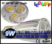 High Brightness CREE GU10 E27 GU5.3  9W 12W Bulb lamp 10pcs free ship 85V-265V  Led Light bulb Lamp Led Spotlight