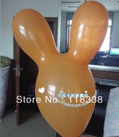 The rabbit head balloons children's toys, children love to play the rabbit head rabbit balloon balloon shaped balloons