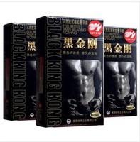 Pleasure more black king kong condoms ultra-thin durable condom  free shipping