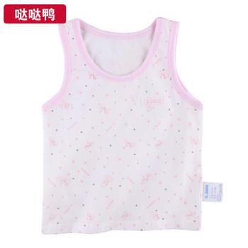 Duck organic cotton newborn clothes 100% cotton baby vest baby clothes summer spaghetti strap