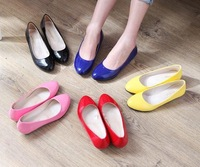 Free shippment all seasons nude shoes PU lady shallow mouth shoes comfortable low-heeled shoes ol single work shoes wholesale