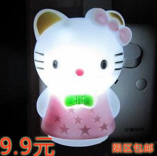 nightlight energy saving lamp eye-lantern small cat with lights switch(China (Mainland))