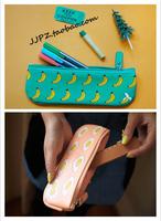 LZ high quality pu Leather series rarr yizi small single zipper pencil case omelettes alpaca student school pen storage bag