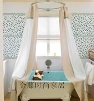 Professional shower room bathtub circle arc l shower curtain rod diameter 90cm