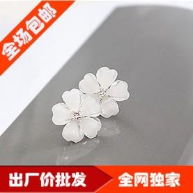 15$ free shipping 2106 accessories love star five petal flower gem stud earring