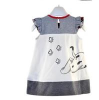 2013 new wholesale Cute puppy doll short sleeve dress children summer dress good quality dresses