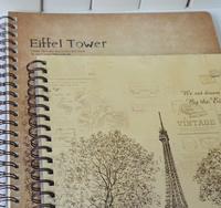 Min. order $25 (mix lot) classic eiffel tower sketchbook