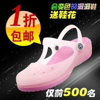 Keki hole shoes female shoes sandals heterochrosis mules sandals slippers jelly shoes female