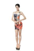 FREE SHIPPING Skirts Women 2013 Fashion Walker TQ023 High Flexible   Printed Slim Vest Skirts Plus Size Wholesale