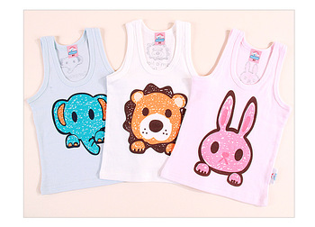 Baby vest child tank 100% thin cotton baby vest baby summer clothes