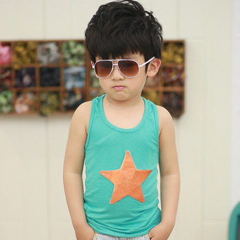 6-12 Children's clothing male child tank child 2013 baby summer clothes