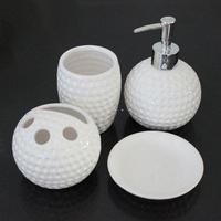 Ceramic smiley time combination bathroom four piece set black and white Fashion Bathroom Sets