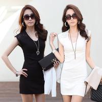dress for girls 2013 plus size clothing lace short-sleeve dress slim chiffon top basic dress underwear dress free shipping