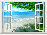 Free shipping Pvc window decoration stickers blank window wall stickers rustic marouflage 036