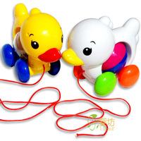 Free shipping ! Yakuchinone sports little duck pull toy rattles, 0130
