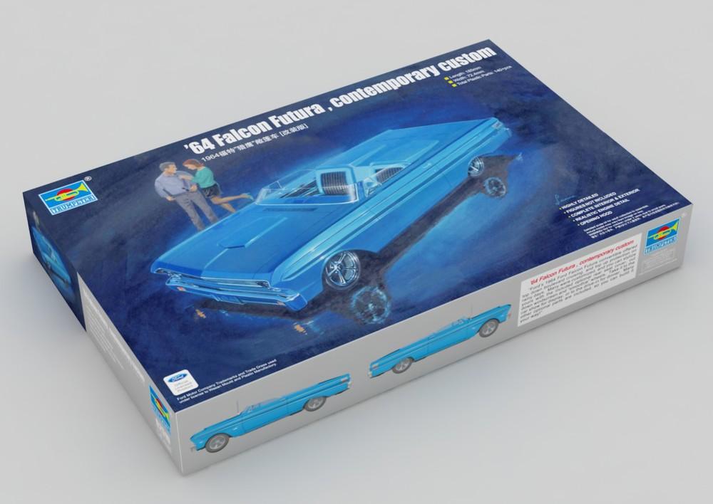 Trumpeter model 02510 1/25 64 contemporary custom small car plastic model kit(China (Mainland))