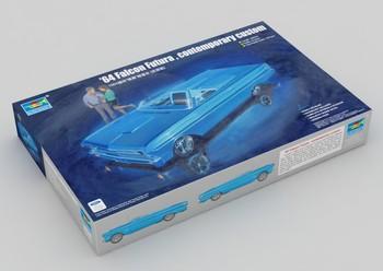 Trumpeter model 02510 1/25 64 contemporary custom small car plastic model kit