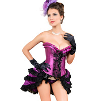 Free Shipping Fashion royal body shaping corset purple embroidered small vest push up seamless corset waist