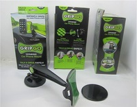 Free Shipping 30pcs/lot High Quality Gripgo Grip Go car holder Mobile Phone Holder for phone/GPS As Seen On TV COLOR BOX PACKING