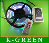 5m digital WS2811 30leds/m 5050 dream color 10Pixels/m waterproof+pixel led strip controller free shipping