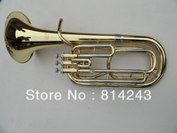 Wholesale - professional 3 straight key Bb bass, French Horn is golden