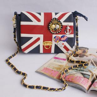 Casual torx flag bag button navy medal messenger bag female bags(China (Mainland))
