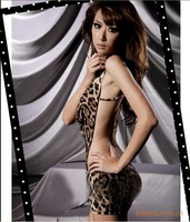Sexy underwear leopard print uniforms novelty women's short skirt sexy temptation set queen sleepwear