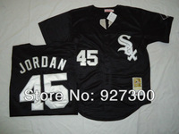 MLB Chicago White Sox 45 Michael Jordan Black Throwback Button Baseball Jerseys Heritage Jersey Free Shipping