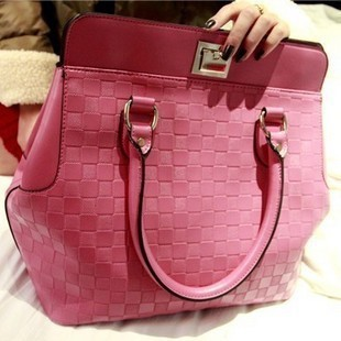 2013 spring female bags lockbutton trend stone pattern check one shoulder cross-body handbag(China (Mainland))