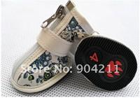 NEW! Big size Pet Dog Shoes Booties, Soft PU Boot , 4pcs/set, 3 colors, 8 sizes, Wholesale Free Shipping