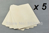 New 5pcs 20 x 15cm Blank Tattoo Practice Fake Skin Sheet Double Side Supply Free shipping