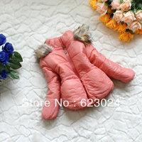 HOT!!! Autumn/winter Girls warm cotton coat,childrens  jacket/suit  3pcs/lot