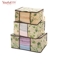 free shipping Quilt clothes storage box dust box soft storage box three pieces set  44L+66L+100L