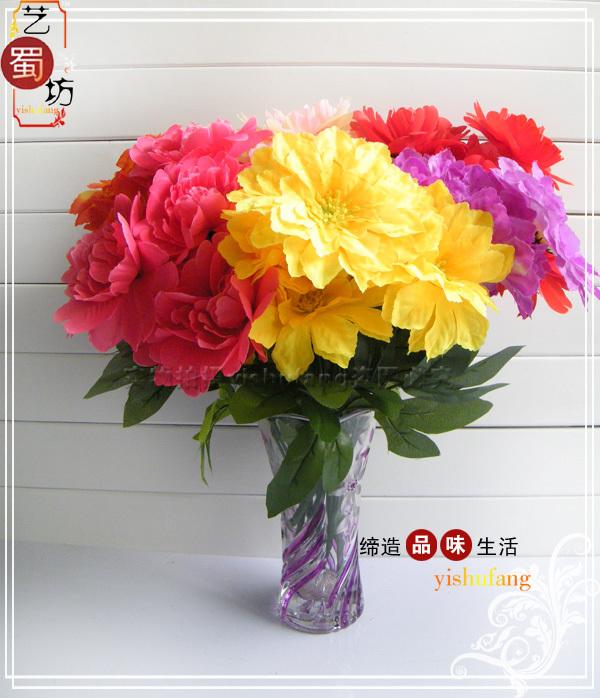 big peony dance flowers Large peony welcome artificial flower(China (Mainland))