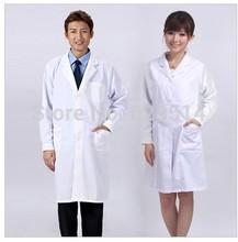 Épaississement des vêtements de médecin norme à manches longues blanc infirmière vêtements services médicaux blouse de laboratoire manteau blanc à manches longues pantalons(China (Mainland))