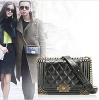 New 2014 Spring Vintage Chain Women's Genuine Leather Shoulder Messenger Bag Size Small Medium