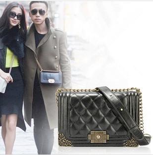 New 2014 Spring vintage chain women's genuine leather handbags shoulder bag cross-body women messenger bag! Sale Super deal(China (Mainl