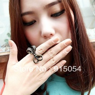 Free shipping (Min order $15)1053 South Korea imported jewelry retro style beautiful bow ring ring female(China (Mainland))