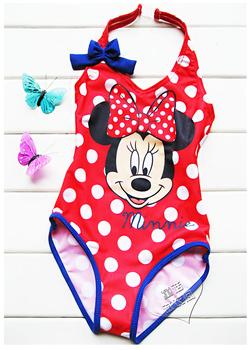 Girls Kids Baby Minnie Mouse Cute Dot Swimsuit Swimwear Bathers monokine Children bathing suits Tankini Swim cute free shiping