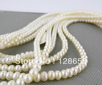 Freshwater pearl Necklace Genuine pearl 5.5-6mm Free shipping