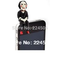 2pcs/lot SAW 3D Jigsaw Puppet Doll Anti Dust JACK Cap Plug for Samsung HTC ect free shipping