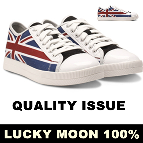 High Quality Fashion UK Flag Women's Canvas Flat Shoes Skateboard Casual Flats, Women Lace-up Painted Sneakers(China (Mainland))